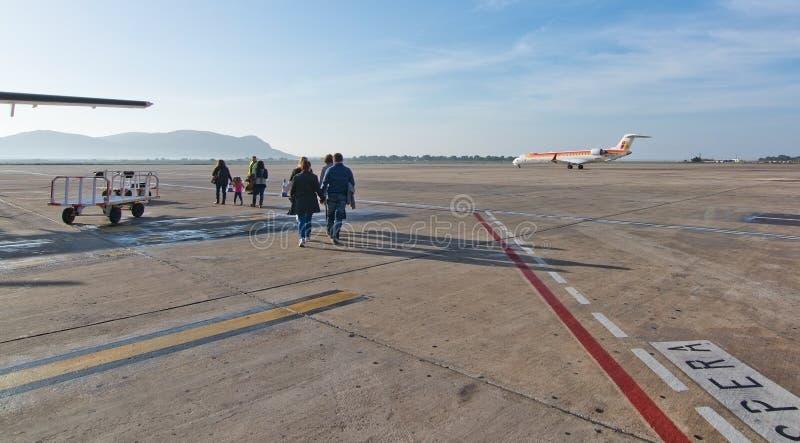 Macadam d'aéroport d'Ibiza photographie stock