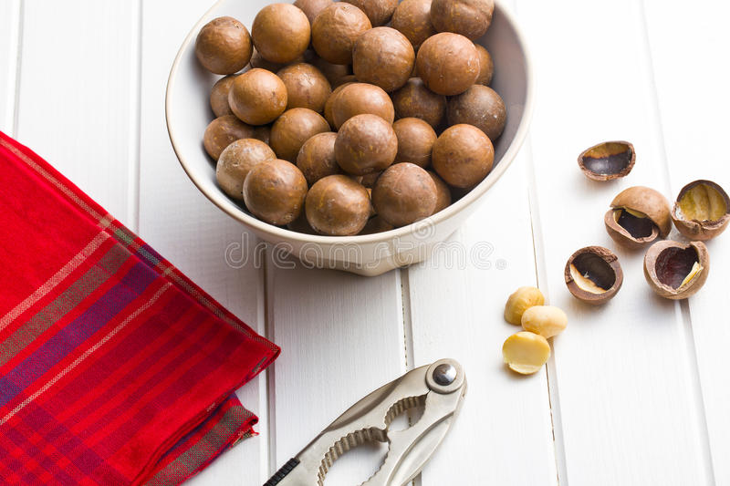 Download Macadamia nuts stock image. Image of wooden, checkered - 35995217