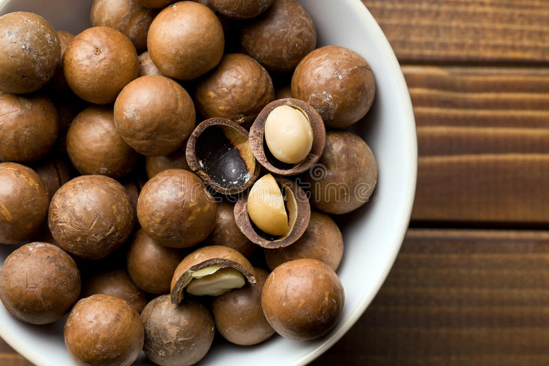 Download Macadamia nuts stock image. Image of crunch, food, wooden - 35995319