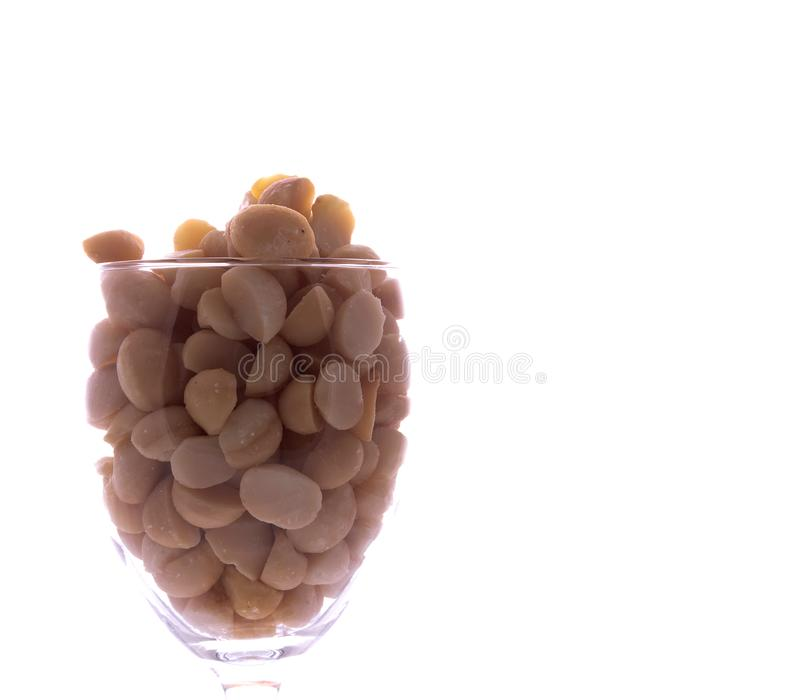 Macadamias In a Glass royalty free stock photo