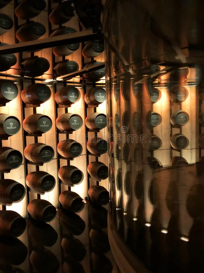 Macallan-Whiskyfässer lizenzfreie stockfotos