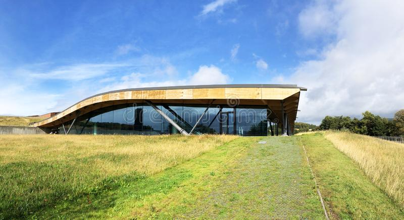 Macallan whiskyspritfabrik Skottland royaltyfri foto