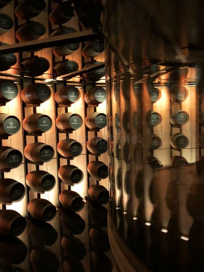 Macallan whiskytrummor royaltyfria foton