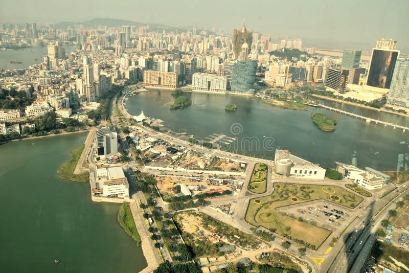 "MACAO € ""CIRCA JANUARI 2017: Cityscape van Macao de horizonmening Van de binnenstad royalty-vrije stock foto"