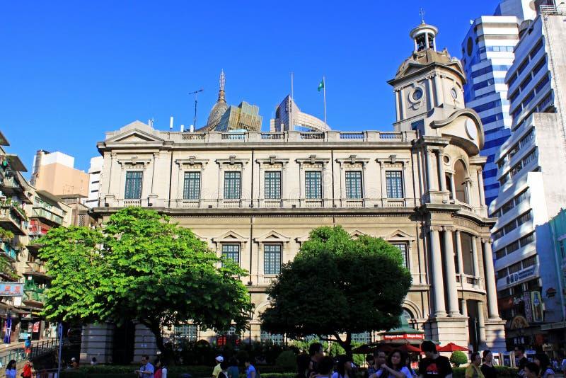 Macao allmän stolpe - kontorsarvbyggnad, Macao, Kina royaltyfri bild
