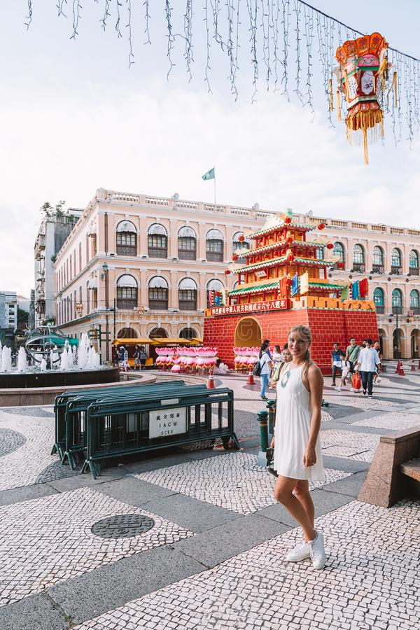 Chinese New Year in Macao China stock photos
