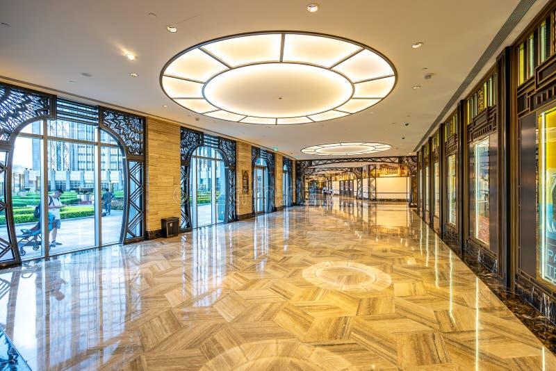 Macao, Chine - 23 avril 2019 : Intérieur d'hôtel de ville de studio photos libres de droits