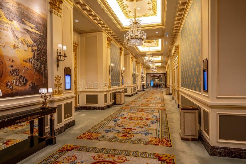 Macao, Chine - 23 avril 2019 : Intérieur parisien d'hôtel photos stock
