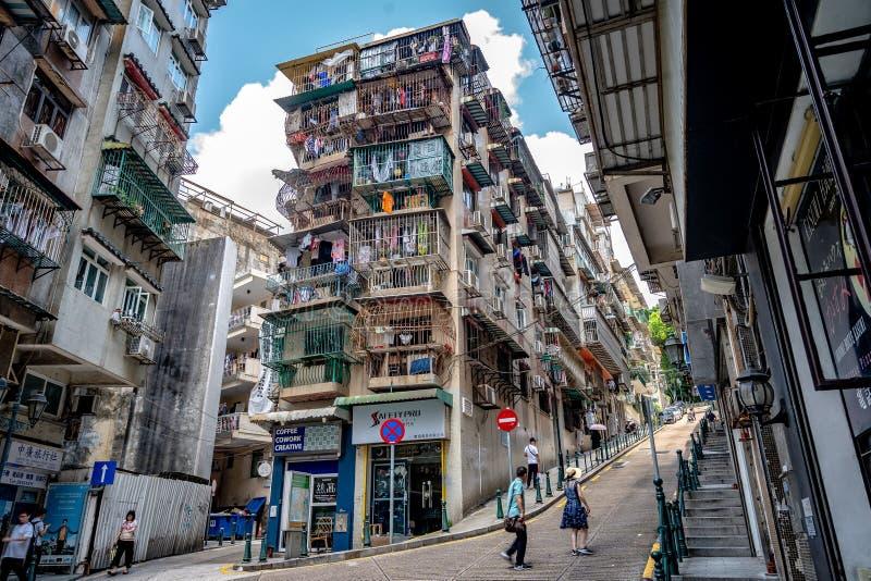 Macao, Chine - vieille partie de la ville photographie stock libre de droits