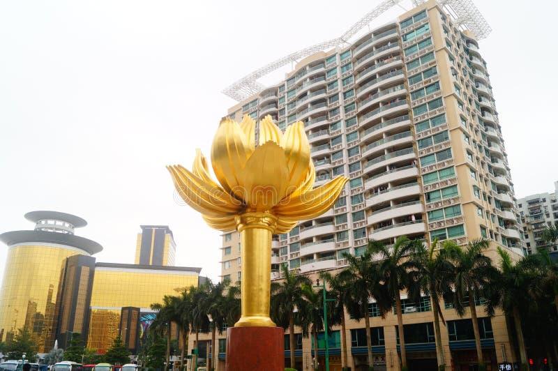 Macao, Chiny: Lotus kwadrat obraz stock