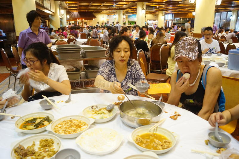 Macao, Cina: grande ristorante immagini stock libere da diritti