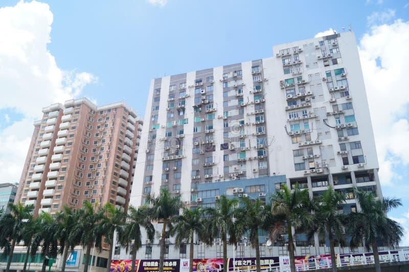 Macao, Cina: paesaggio urbano delle costruzioni fotografia stock libera da diritti