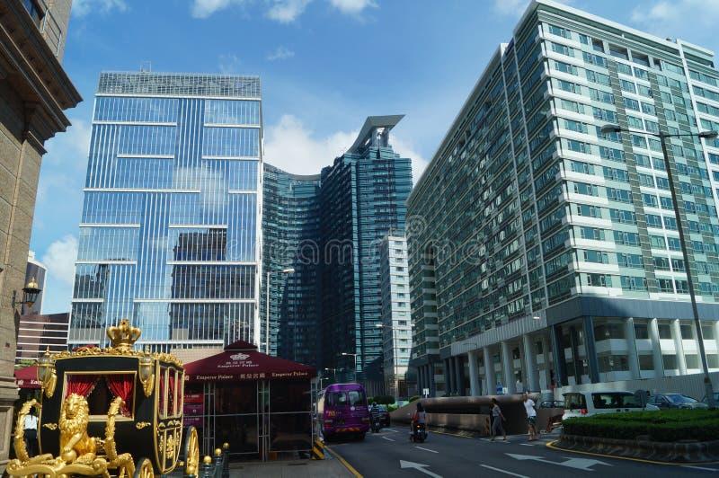 Macao, Cina: paesaggio urbano delle costruzioni immagine stock libera da diritti