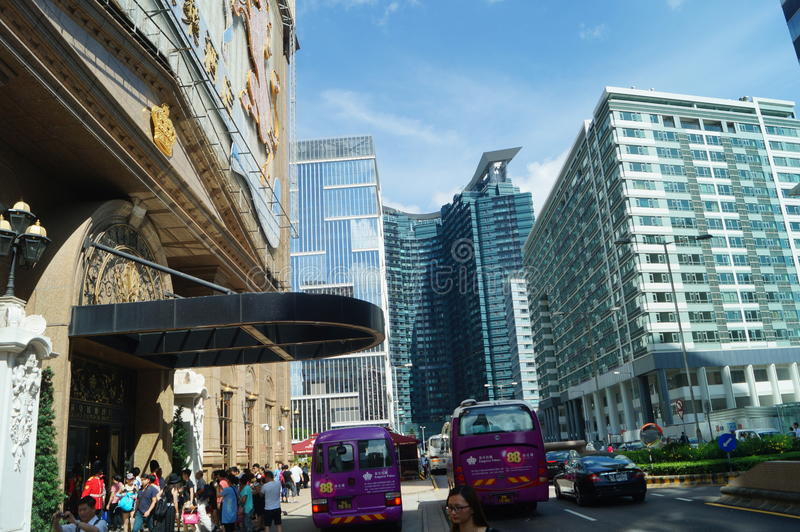 Macao, Cina: paesaggio urbano delle costruzioni fotografie stock