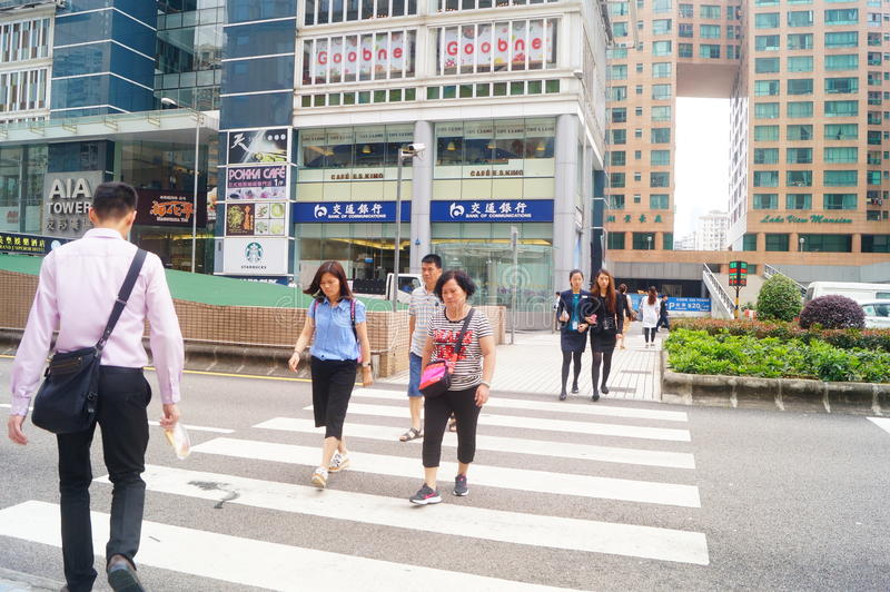 Macao, Cina: paesaggio urbano di traffico stradale immagine stock libera da diritti