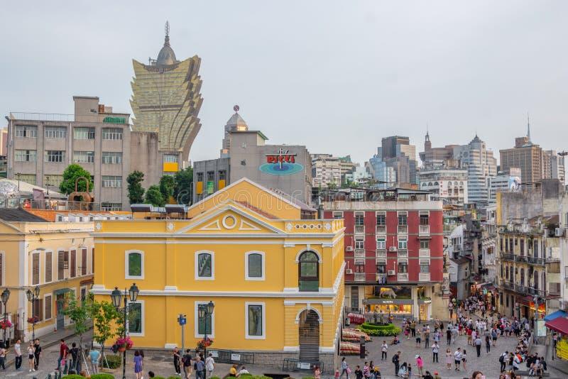 Macao cityscapebyggnad och horisont royaltyfria foton