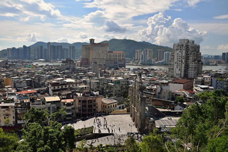 Macao Downtown cityscape skyline view stock photos