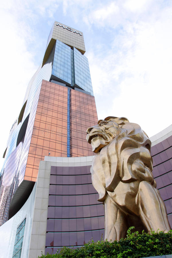 Macao: Groot Hotel MGM royalty-vrije stock afbeelding