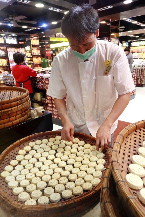 Macao hand - gjorda mandelkakor royaltyfri bild