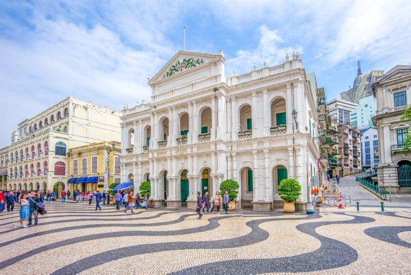 Macao heligt hus av förskoning royaltyfri bild