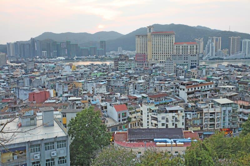 Macao horisont royaltyfri fotografi