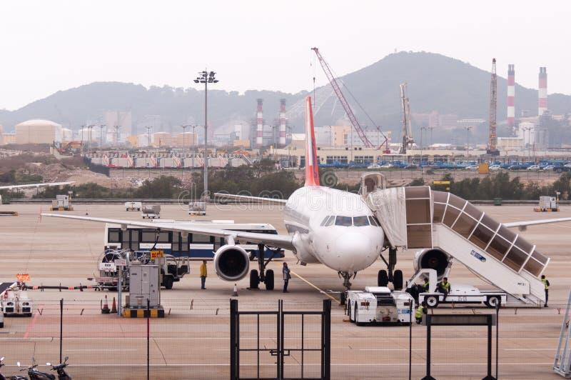 Macao internationell flygplats arkivbild
