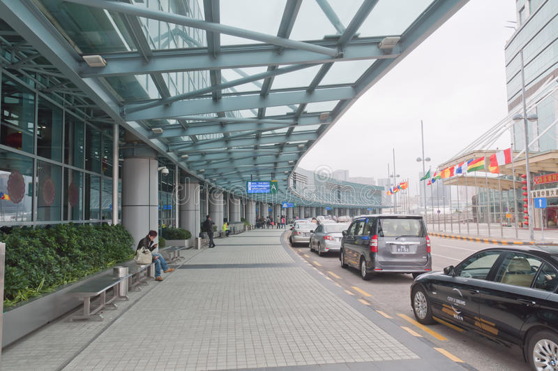 Macao internationell flygplats royaltyfria bilder