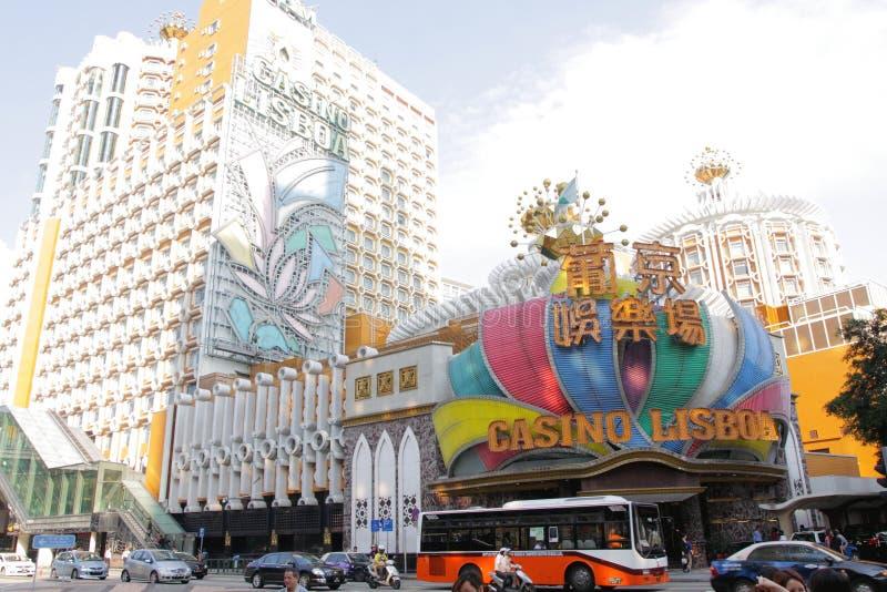 Macao: Kasino Lisboa arkivfoton