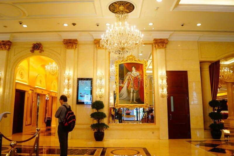 Macao Kina: hotelllobby arkivbilder