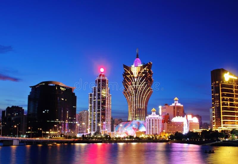 Macao la nuit photos stock