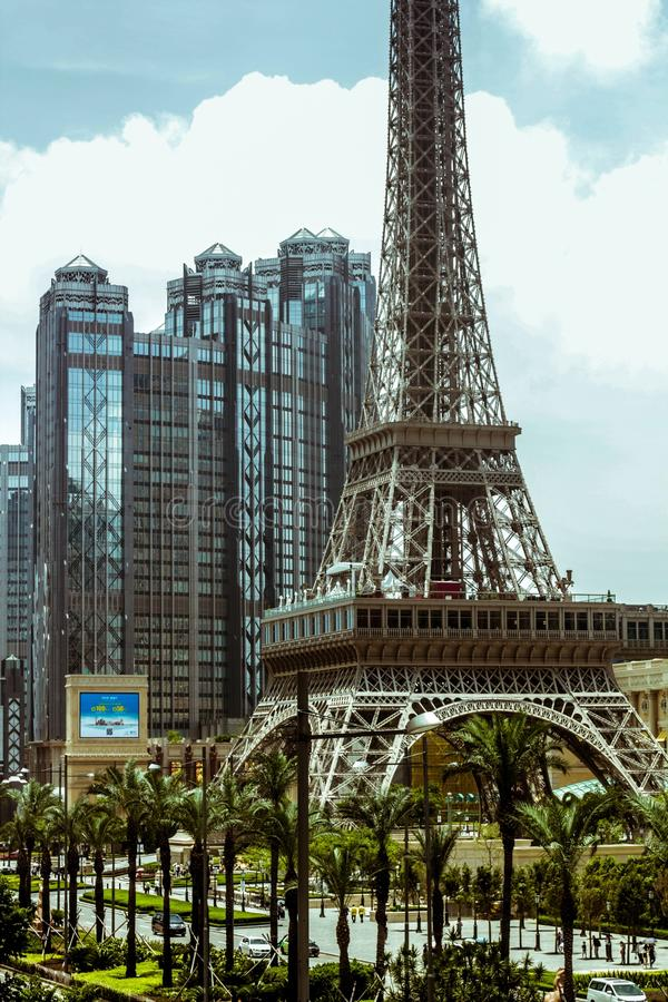 Macao, la tour d'elfe photo stock
