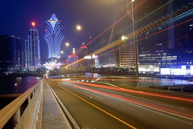 Download Macao night editorial stock photo. Image of landmark - 17280313