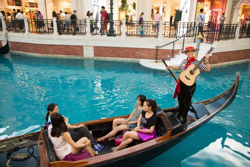 MACAO - 29 OKTOBER: Det Venetian Macao semesterorthotellet i Macao på 29 nolla royaltyfri bild