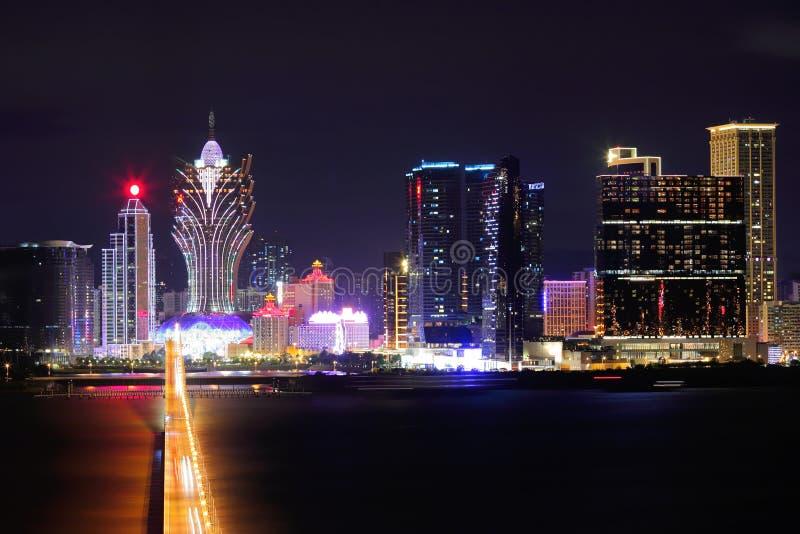 Download Macao på natten fotografering för bildbyråer. Bild av halvö - 27279729