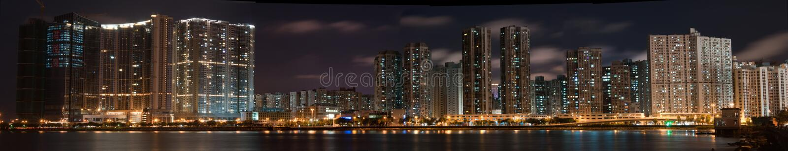 Download Macao Panorama at night editorial stock image. Image of island - 16167534