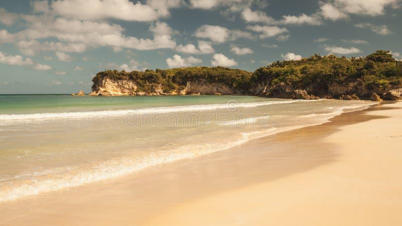 Macao plaża, rocznik tonował krajobraz zdjęcie royalty free