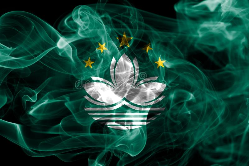 Macao rökflagga, beroende territoriumflagga fotografering för bildbyråer