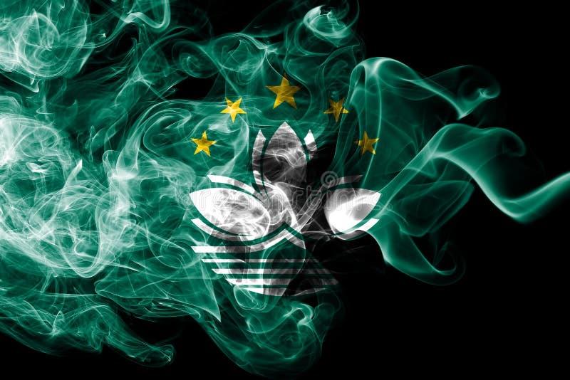 Macao rökflagga, beroende territoriumflagga vektor illustrationer
