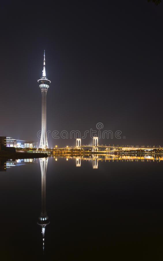 Macao-Turm in Porzellan Macaos Macao stockbild