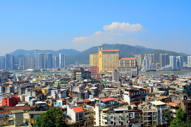 Macao und China lizenzfreies stockfoto