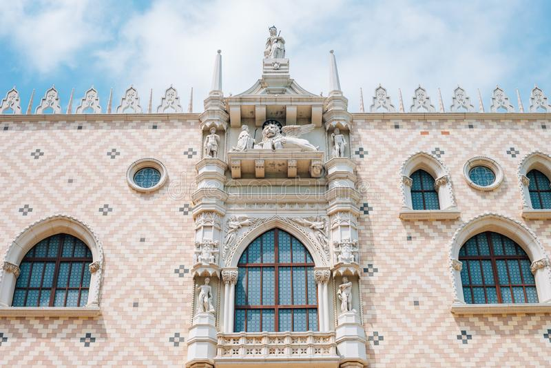Macao Venetian hotell i Macao, Kina arkivbilder