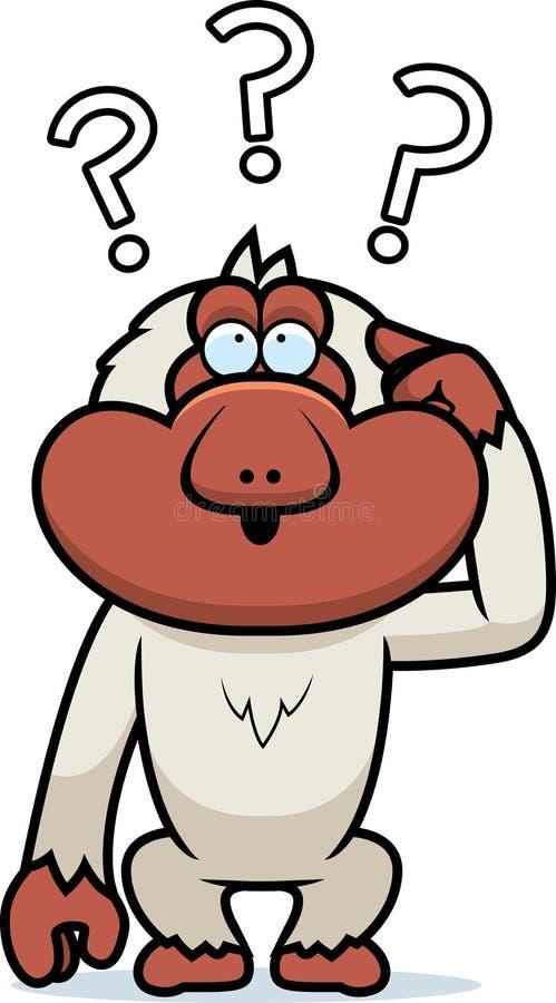 Macaque estúpido de la historieta stock de ilustración