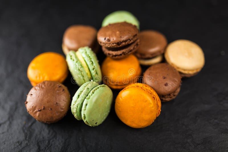 macaron曲奇饼的分类 库存照片