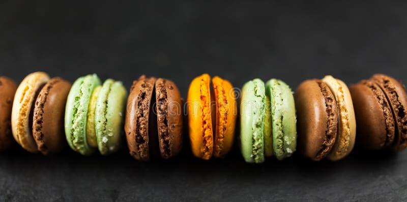 macaron曲奇饼的分类 图库摄影