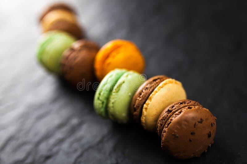 macaron曲奇饼的分类 库存图片