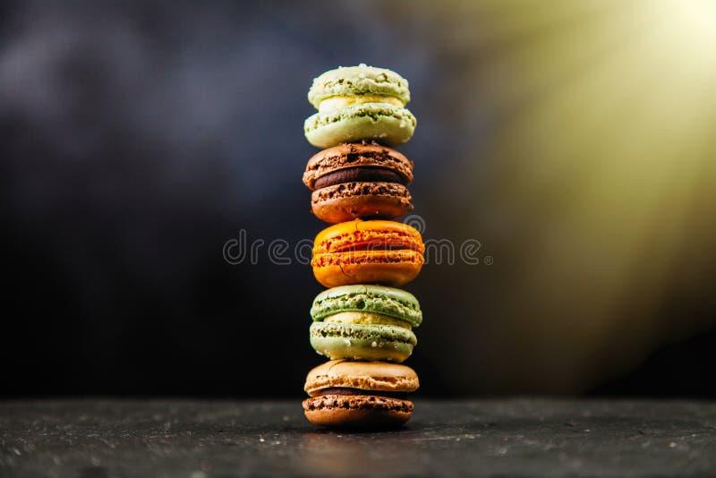 macaron曲奇饼的分类 免版税库存照片