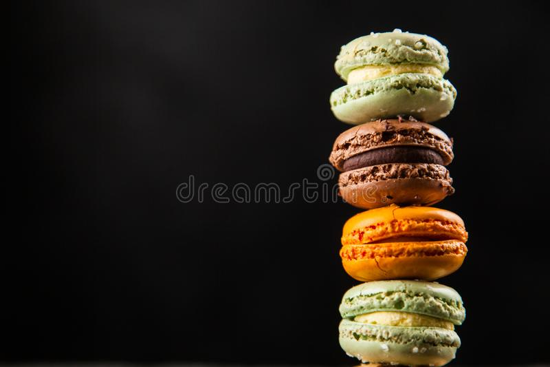 macaron曲奇饼的分类 免版税库存图片
