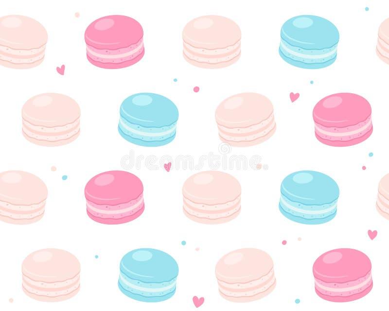 Macaron ciastka wzór royalty ilustracja