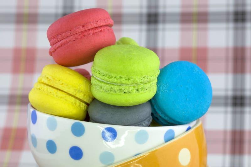 Macaron coloré savoureux photo libre de droits