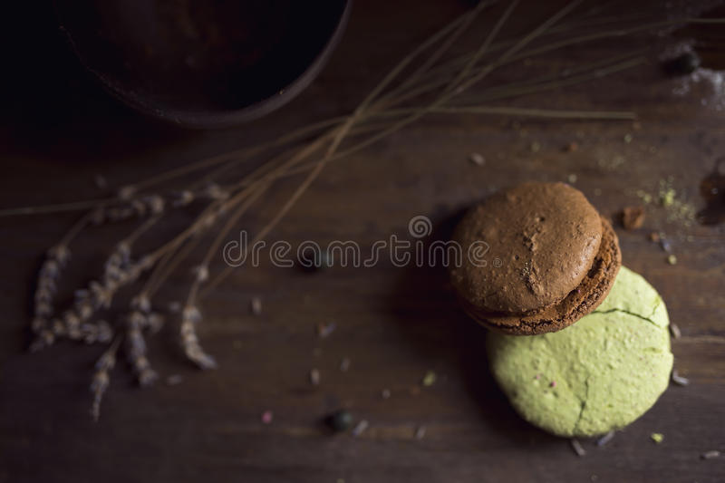 Macaron cookies royalty free stock photos